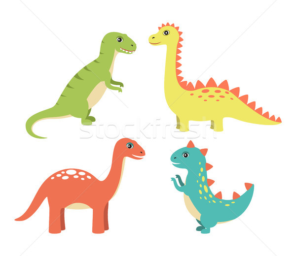 Dino Collection Types Set Vector Illustration Stock photo © robuart