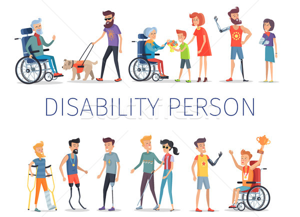 Disabled and Injured People Live Normal Lives Stock photo © robuart
