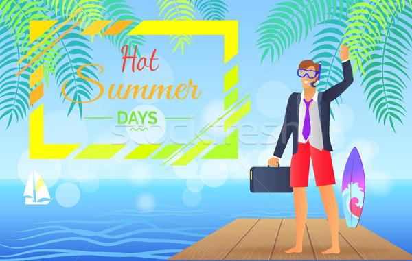 Caliente verano día colorido anunciante día de verano Foto stock © robuart