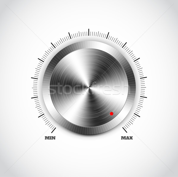 Realistic metal button with circular processing Stock photo © robuart