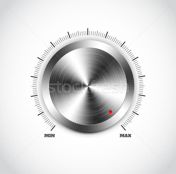 Realistyczny metal przycisk tekstury internetowych Zdjęcia stock © robuart