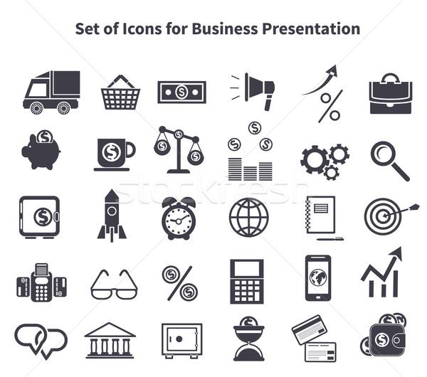 Set of business icons Stock photo © robuart