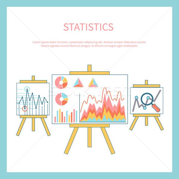 Stockfoto: Stand · charts · grafieken · statistisch · business · analytics