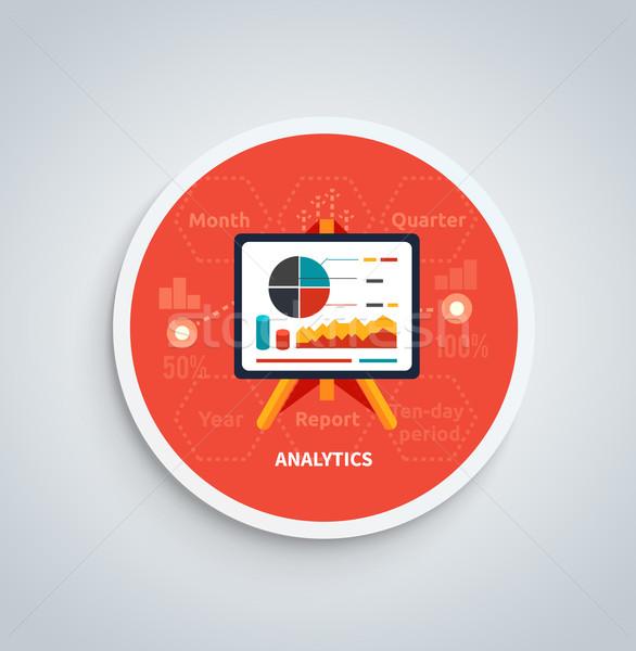 Stockfoto: Stand · charts · banner · business · analytics · kan