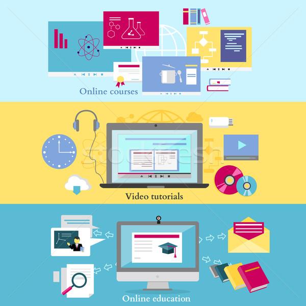 Afstand leren onderwijs online video Stockfoto © robuart