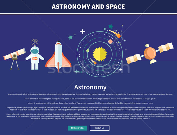 Astronomie espace web page design astrologie Photo stock © robuart