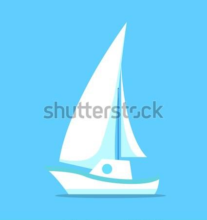 Windszörf vektor terv stílus aktív vakáció Stock fotó © robuart
