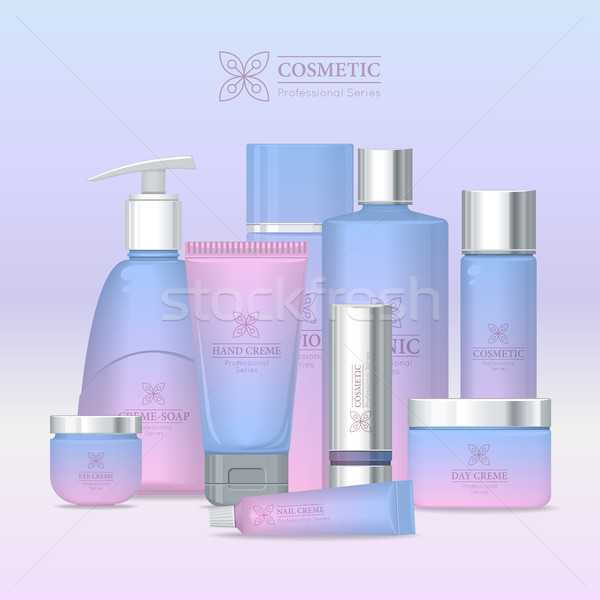 Professional Series Cosmetic Set Isolated. Vector Stock photo © robuart