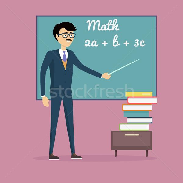Mathematics Learning Concept Illustration. Stock photo © robuart