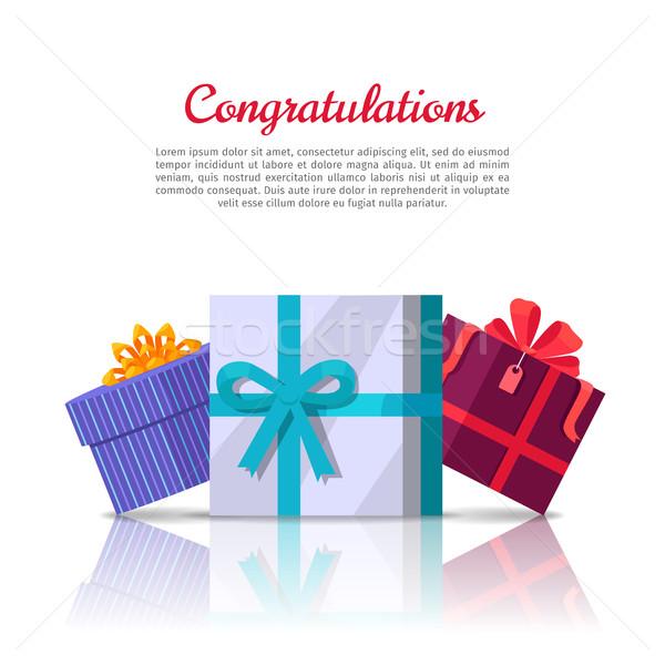 Complimenti web banner stile colorato Foto d'archivio © robuart