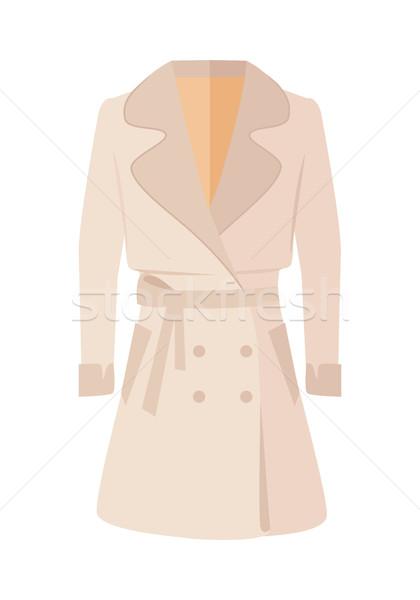 Women Double-Breasted Jacket Isolated on White Stock photo © robuart