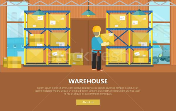 Warehouse Interior Banner Stock photo © robuart