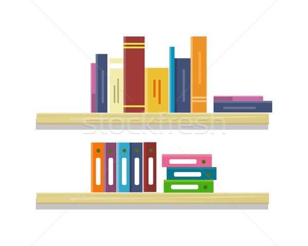 Shelves with Books and Folders Stock photo © robuart