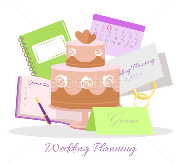 Wedding Planning Vector Concept in Flat Design Stock photo © robuart