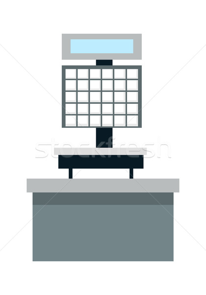 Automatic Electronic Check Printing Scales Vector Stock photo © robuart