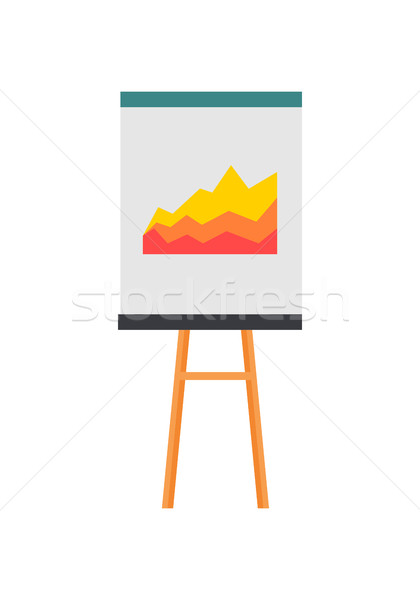 Projection Screen with a Graph Icon Stock photo © robuart