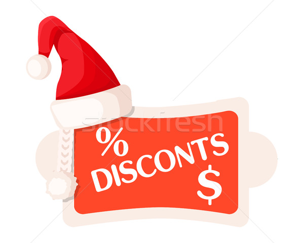 Discounts and Percent Dollar Signs on Festive Tag Stock photo © robuart