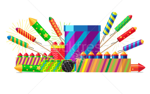 Collection of Different Types of Pyrotechnics Stock photo © robuart