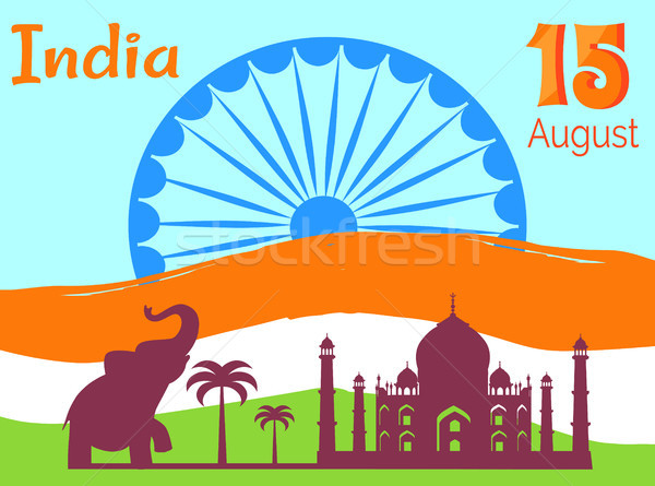 15 August Independence Day in India Holiday Poster Stock photo © robuart