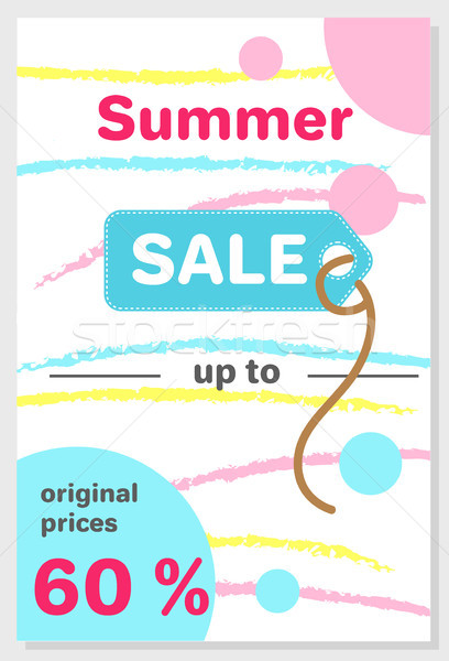Summer Sale Poster with 60 Discount off Vector Stock photo © robuart