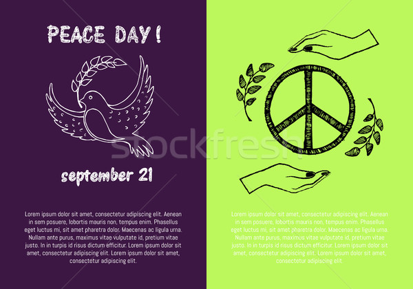 Peace Day September 21 on Vector Illustration Stock photo © robuart