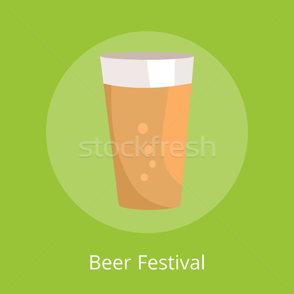 Beer Festival Poster with Icon of Full Pint Glass Stock photo © robuart