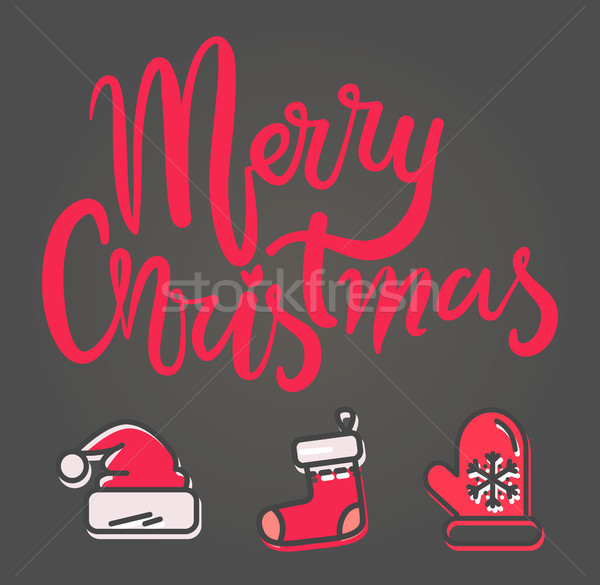 Merry Christmas Bright Banner Vector Illustration Stock photo © robuart