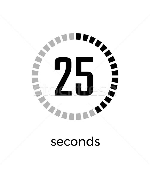 Closeup of Digital Timer on Vector Illustration Stock photo © robuart