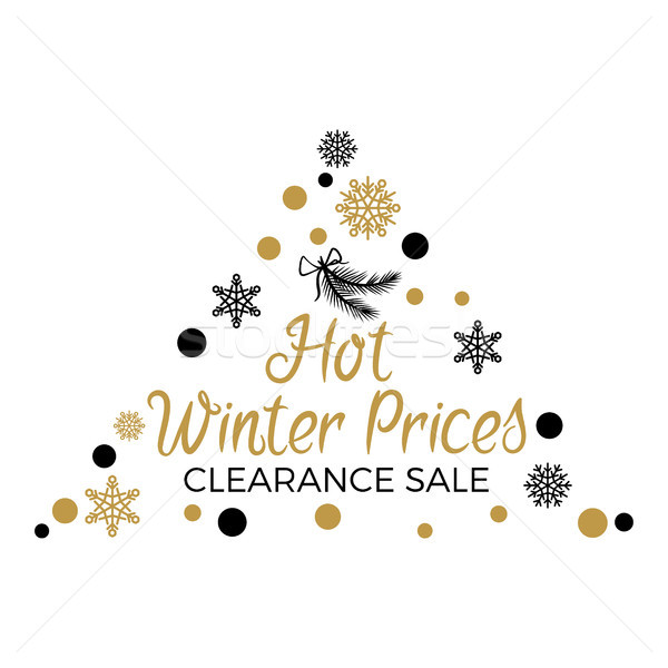 Hot Winter Prices Clearance with Triangular Label Stock photo © robuart