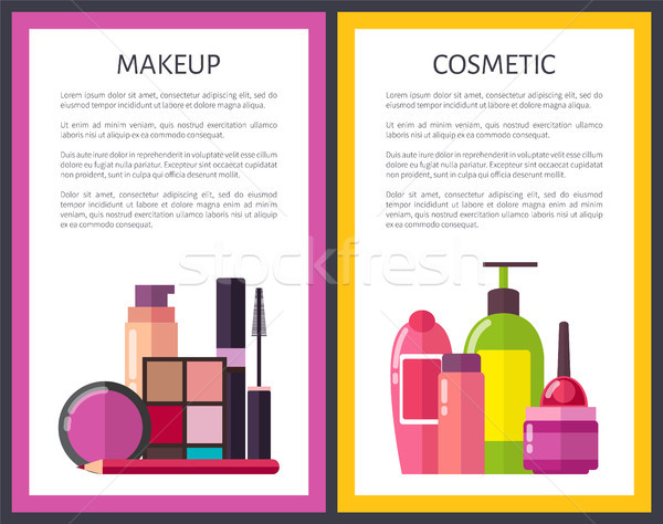 Makeup and Cosmetic Posters Vector Illustration Stock photo © robuart