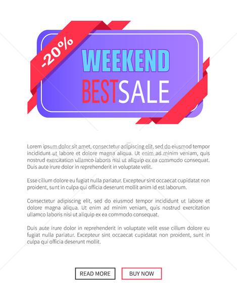 Weekend sprzedaży 20 zniżka godło Zdjęcia stock © robuart