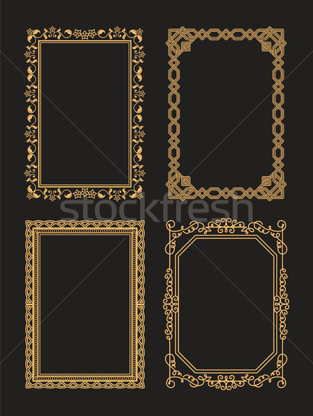 Foto stock: Decorativo · marcos · establecer · gráfico · ornamento · colección