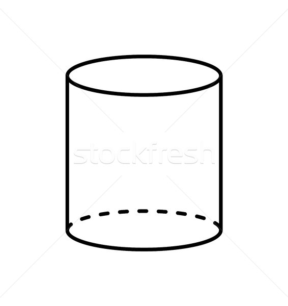 Negro cilindro geométrico figura forma proyección Foto stock © robuart