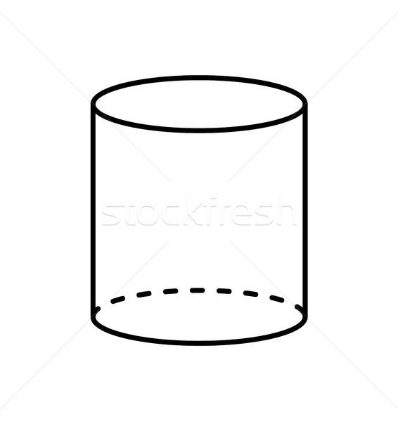 Black Cylinder Geometric Figure Shape Projection Stock photo © robuart