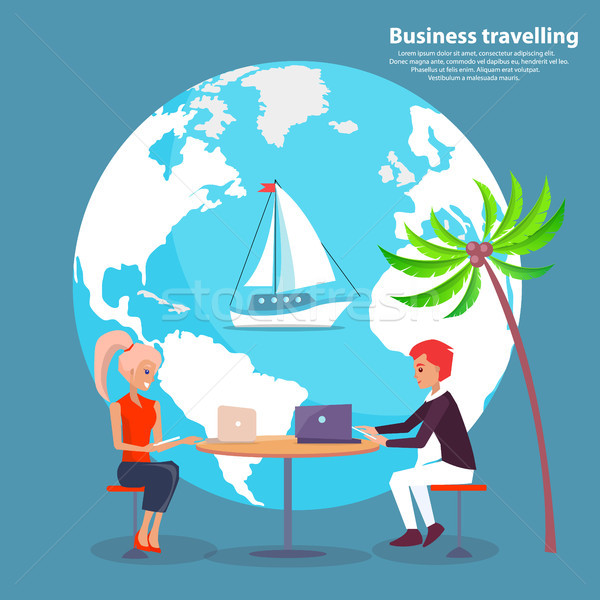 Business Travelling and People Vector Illustration Stock photo © robuart