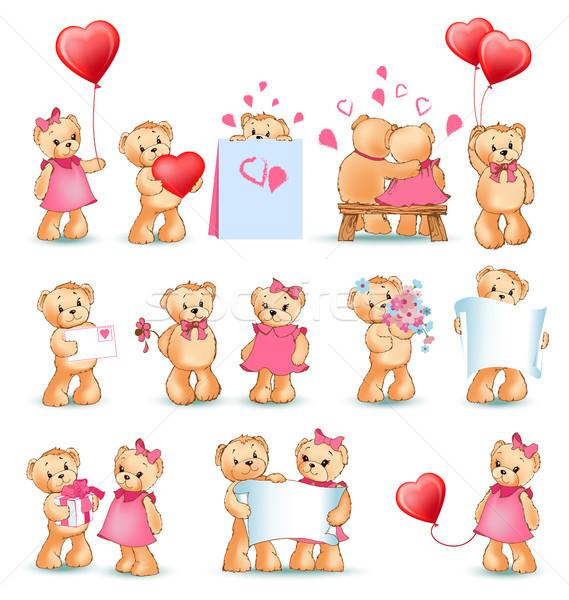テディベア セット バレンタイン コレクション バレンタインデー ストックフォト © robuart