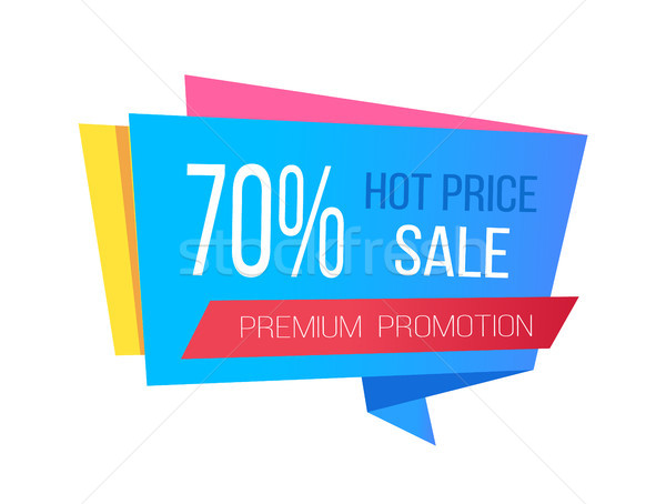Sale with Hot Prices and 70 Off Promo Sticker Stock photo © robuart
