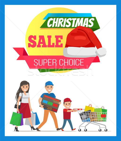 Super Choice Christmas Sale Vector Illustration Stock photo © robuart