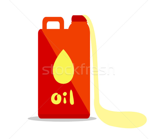Oil Container Isolated Illustration on White Stock photo © robuart
