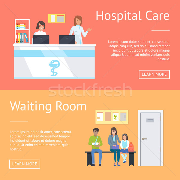 Hospital Care and Waiting Room Vector Illustration Stock photo © robuart