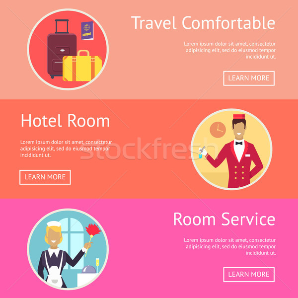 Travel Comfortable Wish and Hotel Services Stock photo © robuart