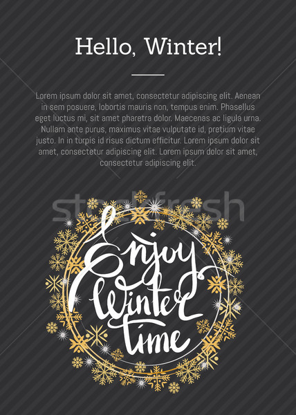 Enjoy Winter Time Inscription Written in Frame Stock photo © robuart
