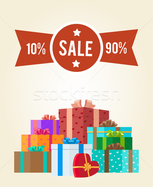 10 to 90 Discounts Clearance Sale Premium Label Stock photo © robuart