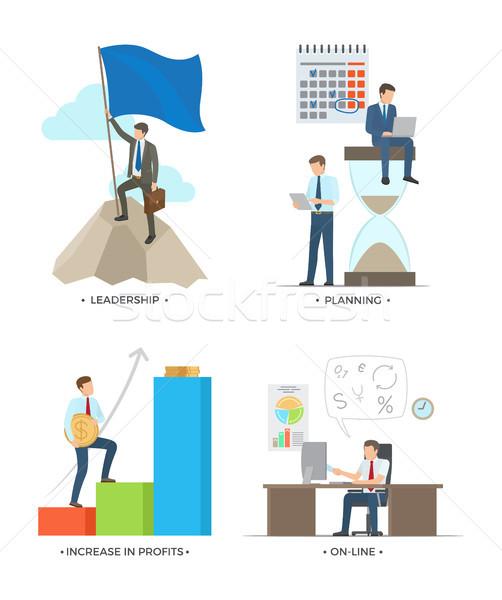 リーダーシップ 計画 利益 を 写真 ストックフォト © robuart