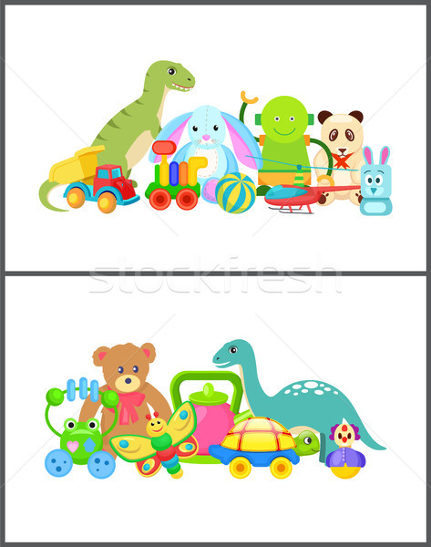 Robot and Frog Collection Vector Illustration Stock photo © robuart