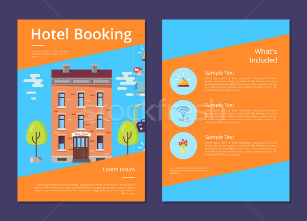 Hotel Booking and Whats Included in It Info Page Stock photo © robuart