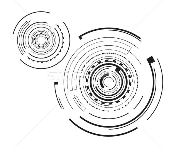 Pair of Interface Patterns Vector Illustration Stock photo © robuart