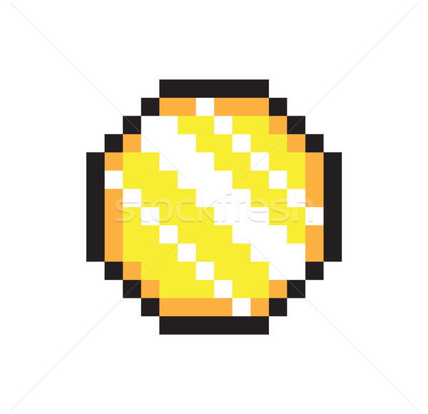 Sparkle Coin Sketch, Pixel Money, Vector Banner Stock photo © robuart