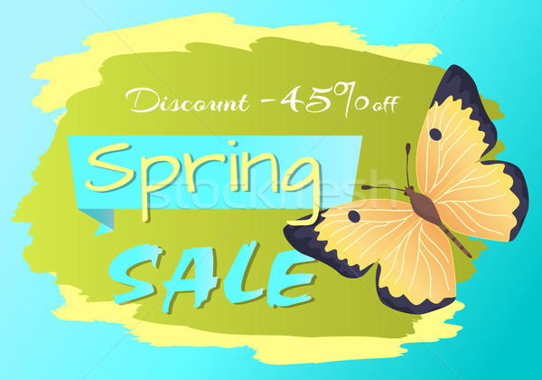 Spring Sale Poster Discount -45 Colorful Butterfly Stock photo © robuart