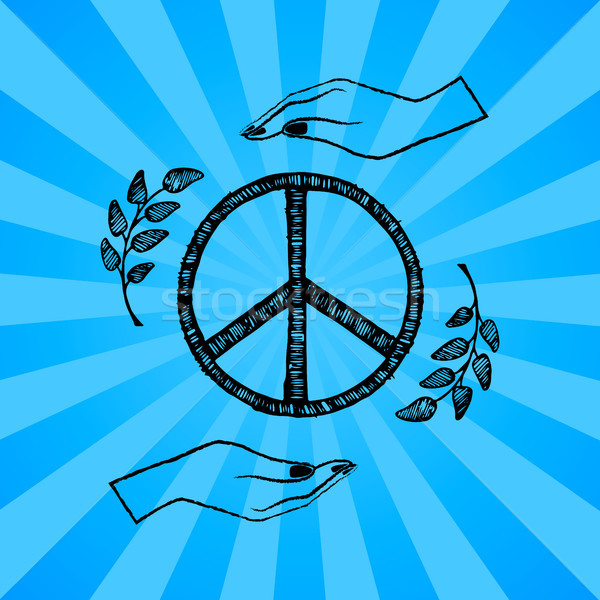 International Peace Day Vector Illustration Blue Stock photo © robuart